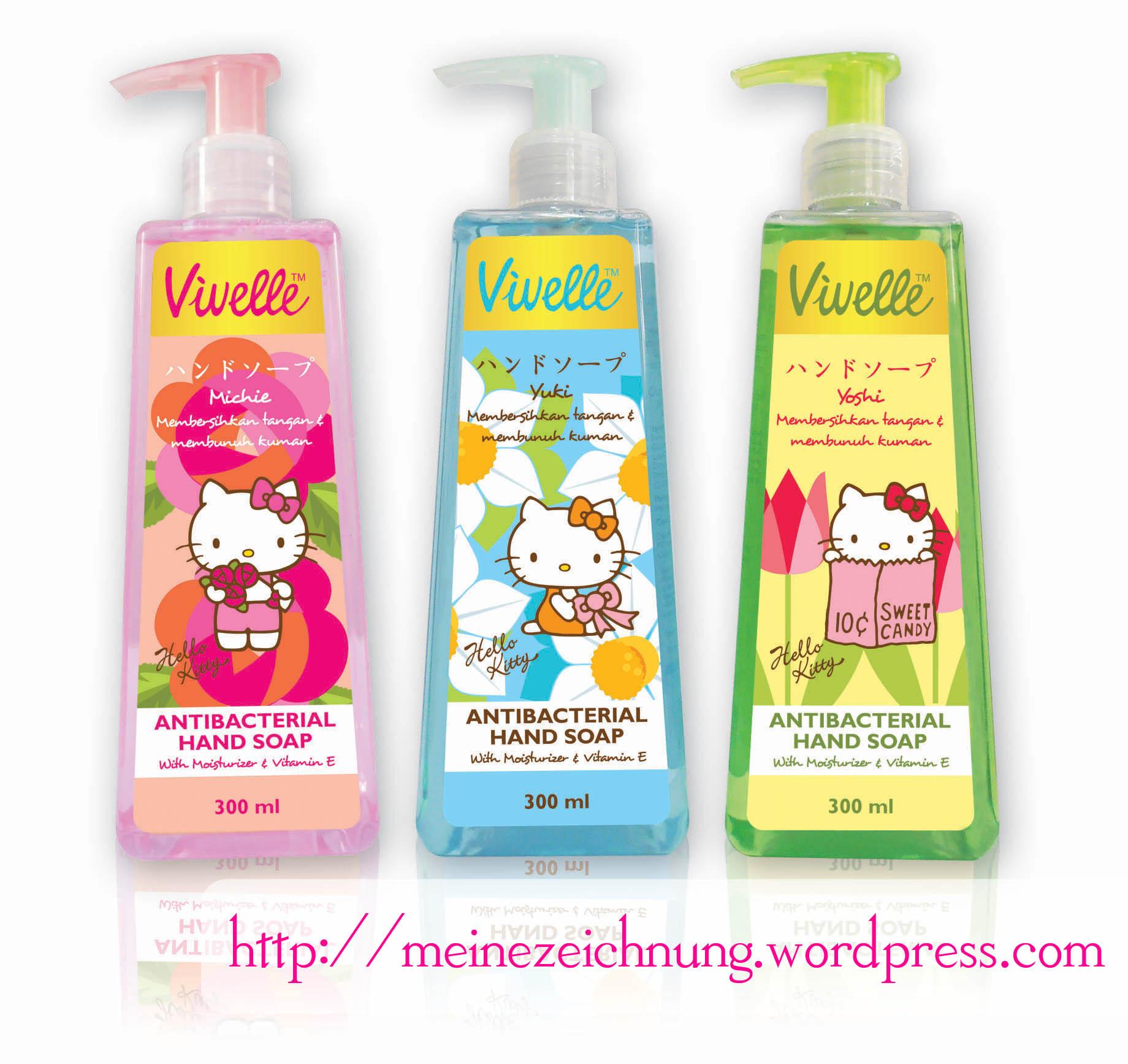Hello Kitty Product Meinezeichnung